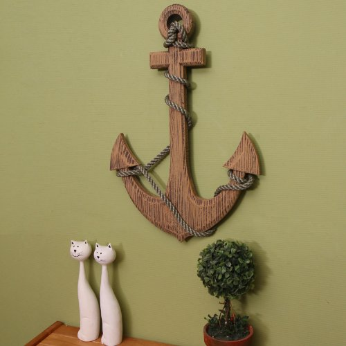 Amazon.com: Adeco Wooden Boat Anchor With Crossbar, Steering Wheel, Wall  Décor Home Décor (Wooden Boat Anchor With Crossbar): Home U0026 Kitchen