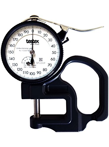 Testex Micrometer Dial Thickness Gage, Metric Units
