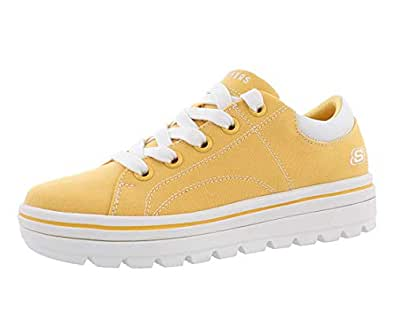 Skechers Street Cleat - Bring it Back Sneaker, Yellow, Size 7.5