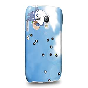 Case88 Premium Designs My Neighbor Totoro 0672 Protective Snap-on Hard Back Case Cover for Samsung Galaxy S3 mini (Not Normal S3 !)