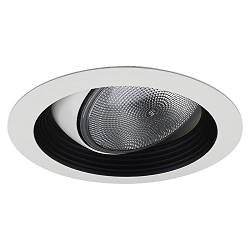 Lightolier 1088WH 5 Inch Regressed Adjustable Accent Eyeball Reflector Trim Round White Lytecaster