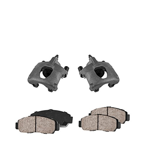 CCK02451 [2] REAR Premium Loaded OE Caliper Assembly Set + [4] Quiet Low Dust Ceramic Brake Pads