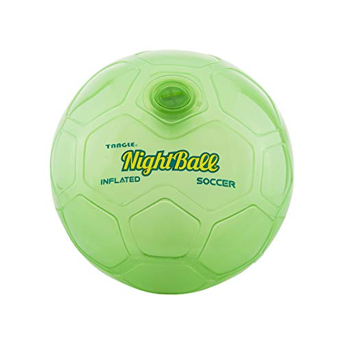 Nightball Tangle Creations Light Up Soccer Ball (Size 5, Green) -