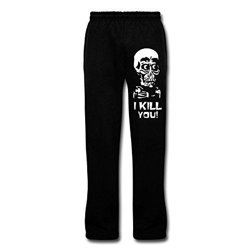 PGxln Men's Jeff Dunham Skull Workout Pants Color Black Size ()