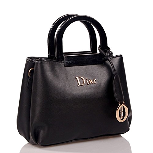 hydne-womens-fashionable-elegant-portable-metal-pendant-handbagblack