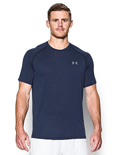 Under Armour Men's Tech Short Sleeve T-Shirt, Midnight Navy/Steel, XX-Large