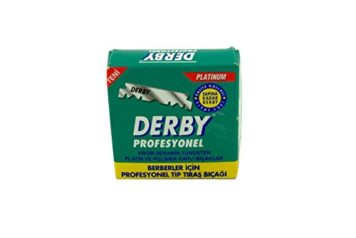 Professional Derby Blades - Derby Shaving Blades - 100 Pieces in a Pack - 2 Packet Set - Single Edge Razor Blades for Straight Razor / 5 Pcs from SMI