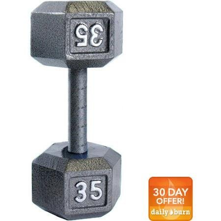 CAP Barbell Cast Iron Hex Dumbbell, Single, Size: 35 lb