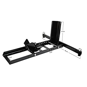 Extreme Max 5001.5757 Adjustable Motorcycle Stand / Wheel Chock - 1,800 lbs.