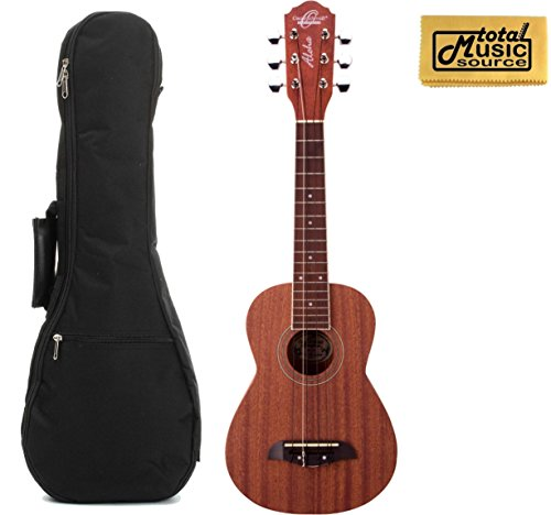 Oscar Schmidt OU26T 6-String Tenor Ukulele, Mahogany Body, Satin Finish, Includes TMS Polishing Cloth and Padded Gig Bag by Oscar Schmidt