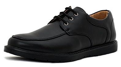 da4932f3d6941 Noir Hommes Chaussures Décontractées À Lacets École Travail Bureau Robe -  Taille - Homme, Noir