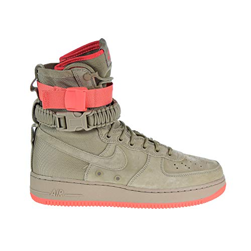 Nike SF Air Force 1 Men's Shoes Khaki-Rush Coral 864024-205 (12.5 D(M) US) (Force 12 Size Air Nike Mid 1)
