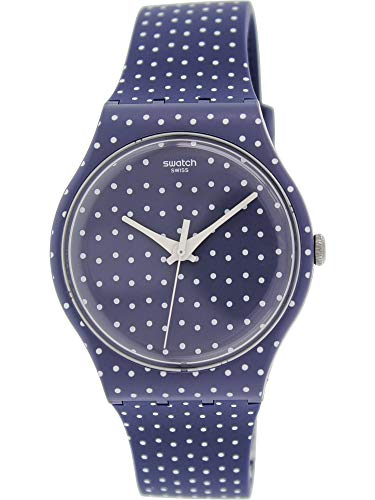 Swatch Unisex SUON106 For the Love of K Blue Polka Dot Watch -