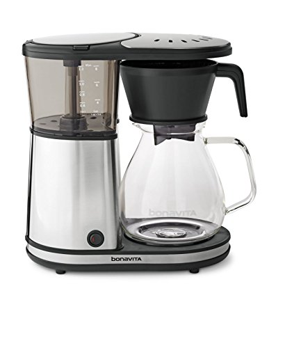Bonavita BV1901GW 8-Cup One-Touch Coffee Maker Featuring Glass Carafe and Warming Plate 12.6 x 6.8 x 12.2 inches