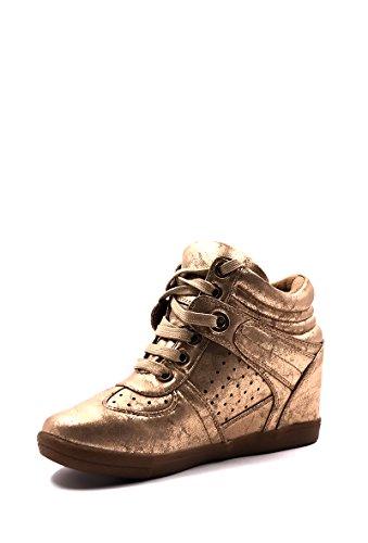 Similicuir Mode Style Compensée Métalisé CHIC Chaussure Baskets Femme NANA Eq4Cn0ZwU