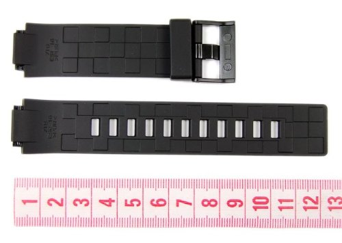 Casio watch strap watchband Resin black 16mm W-110 LCF20 LDF20 by Casio (Image #1)