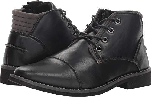 Deer Stags Boys' Hamlin Memory Foam Dress Comfort Cap Toe Boot, Black, 4 Medium US Big Kid