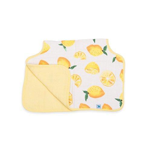 Little Unicorn Cotton Muslin Burp Cloth - Lemon