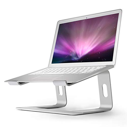 Notebook Holder Laptop - Aluminum Laptop Stand for Desk Compatible with Mac MacBook Pro/Air Apple 12