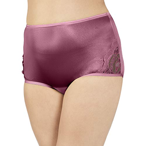 (Vanity Fair Women's Perfectly Yours Lace Nouveau Brief Panty 13001, Sunset Rose, Medium/6)