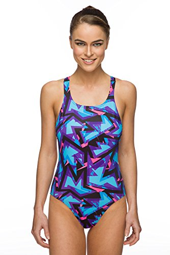 Maru Zig Zag Pacer Fast Back Swimsuit Pink/Blue Size 40