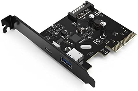 Desktop PC motherboard PCI-E to USB3.1 Type-c dual-port expansion card pcie 4x to usb 3.1 Type-A adapter SuperSpeed 10Gbps