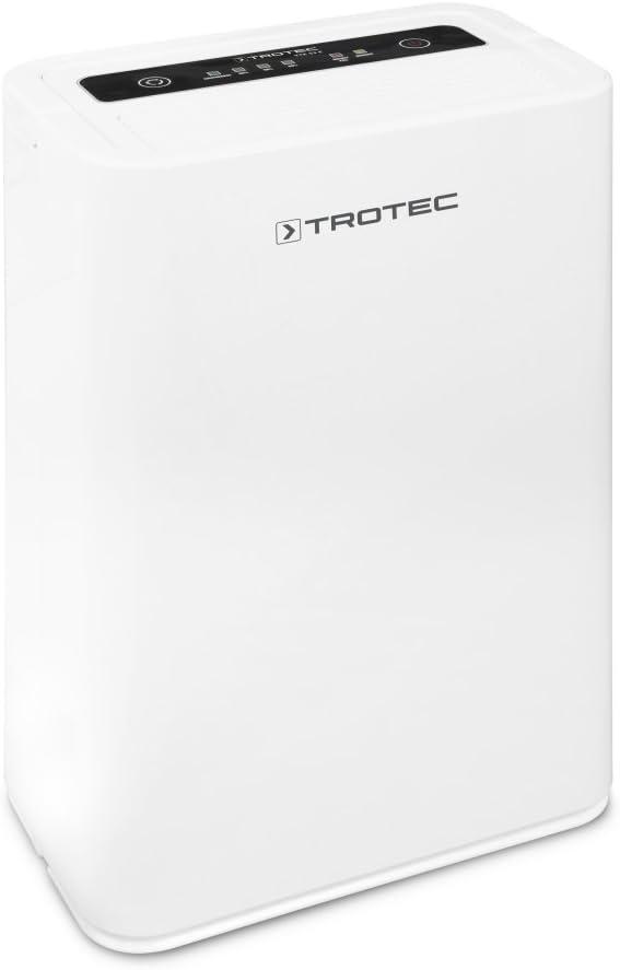 TROTEC TTK 52 E Déshumidificateur d'air, Déshumidificateur Electrique, Déshumidificateur Portable, Absorbeur d'humidité, Déshumidification Max. 16 l/j, pour 31 m² Max, Hygrostat intégré