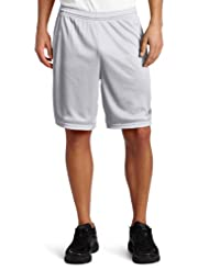Champion Men\'s Long Mesh Short With Pockets,Athletic Gray,Sm...
