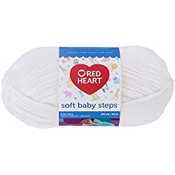 Red Heart Soft Baby Steps Yarn, Solid, White