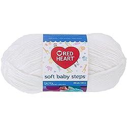 RED HEART Soft Baby Steps Yarn, White
