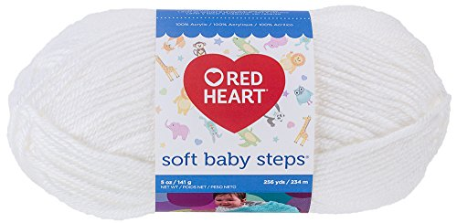 RED HEART Soft Baby Steps Yarn, - Heart Hook Crochet Acrylic