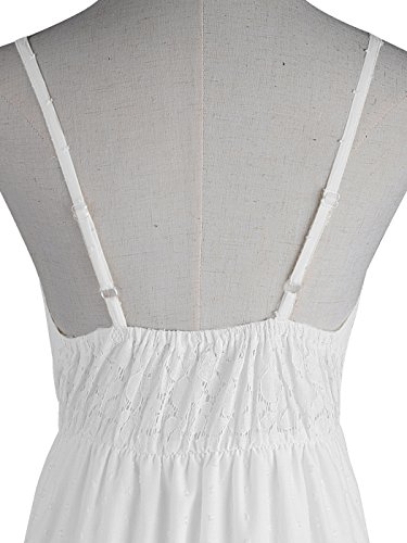 Womens Sleeveless Lace Boho Kaci Strap Cream Spaghetti Dress Maxi Long Adjustable Anna OTqwxx