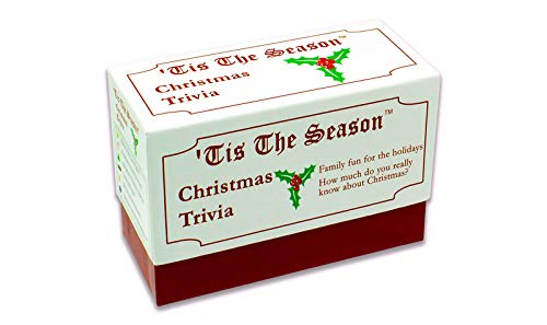 Tis The Season Christmas Trivia Game - The Classic and Original - Featuring Christmas Trivia Cards & Questions That Make For Great Holiday Games For The Entire Family (1 Pack) ()
