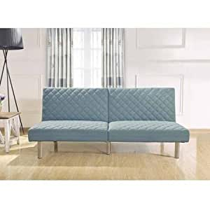 teal quilted memory foam futon kitchen dining. Black Bedroom Furniture Sets. Home Design Ideas