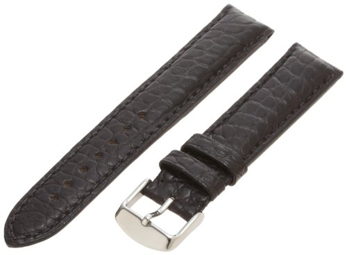 Hadley-Roma Men's MS2010RA-180 18-mm Black Genuine Alligator Leather Watch -
