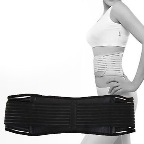 Vital Physio Infrared HEAT Magnetic Back Support XL Lumbar Brace Belt...
