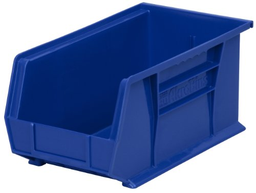 Akro-Mils 30234 Plastic Storage Stacking Hanging Akro Bin, 15-Inch by 5-Inch by 5-Inch, Blue, Case of 12 by Akro-Mils
