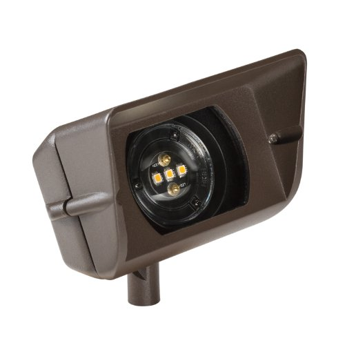 70BBR27 Design Pro 12W 12V 2700K LED Wall Wash, Bronzed Brass Finish (Patina Brass Wall)