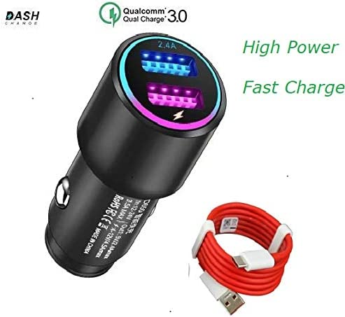 5T 5 Black Dash Car Charger for Oneplus 6T//6//5T//5//3T//3 6 6T Dual USB Charging Rapidly Car Charger with OnePlus Dash Charge USB Data Cable for One Plus 3 3T