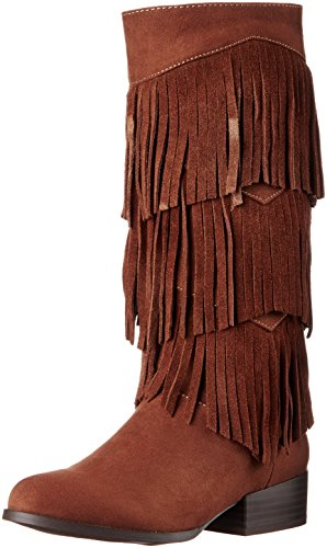 [Sam Edelman Kids Girls' Abbey Minnie Western Boot, Brown, 4 M US Big Kid] (Brown Boots For Kids)