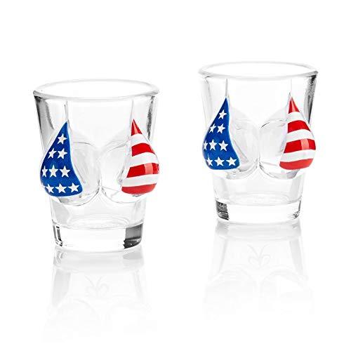 Pair of USA Bikini | American Flag Shot Glasses Set - X'mas and Holiday Gift Set]()