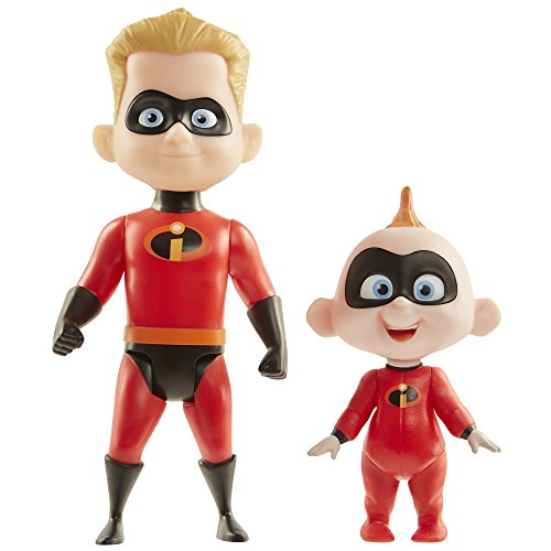 Disney Pixar Incredibles 2 Dash & Jack-Jack Figures by Jakks Pacific