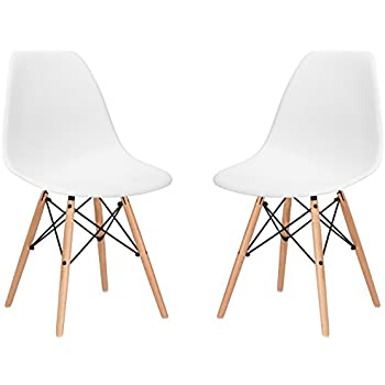Poly And Bark Eames Style Molded Plastic Dowel Leg Side Chair Dsw Natural Legs Set Of 2