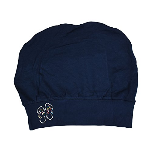 Landana Headscarves Womens Soft Sleep Cap Comfy Cancer Hat with Studded Flip-Flops Applique -Navy