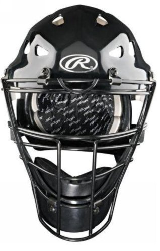 Coolflo Hockey Style Catchers Helmet (Rawlings Coolflo Adult Catchers Helmet (Black))