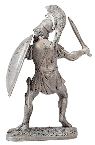 Real tin soldier - Miniature soldier Ancient Greek Hoplite. Historically authentic metal sculpture 54mm (scale (Greek Sculpture Costume)