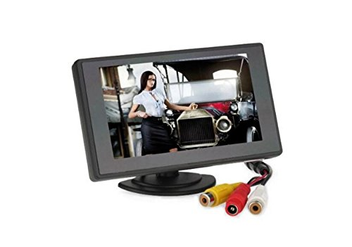 (BW 4.3 inch TFT LCD Digital Car Rear View Monitor with 360 swivel stand for Vehicle Backup Cameras)