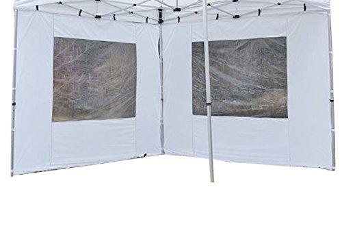 hochwertig 295 x 215 cm//PE 180 g//m/² wei/ß Nexos 2 St/ück Seitenteile Seitenw/ände Ersatzw/ände mit Fenster f/ür Profi Falt-Pavillon Festzelt