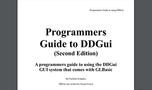 DDgui Programmers Reference Guide (Kingsley Manufacturing)