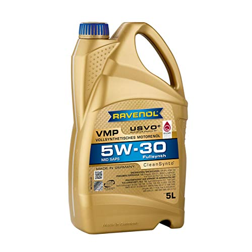 RAVENOL VMP SAE 5W-30 Fully Synthetic Mid SAPS USVO & CleanSynto (5 Liter)